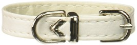 Mirage Pet Products 3/8-Inch Width Plain Collar for Pets, 8-Inch, White - $14.79