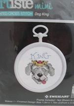 Artiste Mini Cross Stitch Kit with Frame - Dog King - $2.50