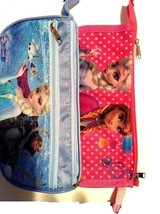 2 NEW Kids Girl Stationey Cosmetic Storage Pencil Case Light Little Bag - $4.90