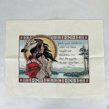 Completed Dimensions The Earth Is Our Mother Cross Stitch Kit James Hims... - $82.12