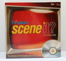 TV edition Scene It?  The DVD Game Trivia Game w Real TV Clips 2004 ages... - $14.01