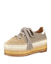 Chloe Qai Platform Espadrille Sneakers Shoes Size 40 MSRP: $650.00 - $371.25