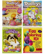 DUDLEY'S* Egg Decorating Kit EASTER Pure Food Colors STICKERS New! *YOU ... - $2.69