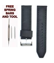 Fossil JR1436 24mm Black Leather Watch Strap Band FSL115 - $28.70