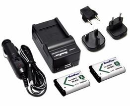 Charger+TWO Digital Camera Batteries SONY NP-BX1  CyberShot DSC-RX100 BA... - $16.72