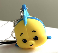 Disney Parks Little Mermaid Flounder Wishables Keychain with Lobster Claw NEW - $20.00
