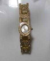 Gruen Ladies Gold-tone Rhinestone Stretch Bracelet Watch  - $34.65