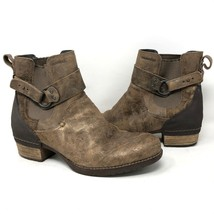 Merrell Womens Shiloh Pull-On Brown Burnished Leather Boots Sz 10.5 Harness - $123.74