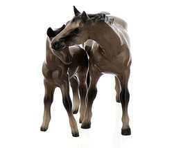 Hagen-Renaker Miniature Ceramic Horse Figurine Thoroughbred Mare and Colt Set  image 9