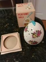 Vintage Ceramic Potpourri Perfume Hanging Ball Colorful Flowers - $15.50