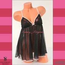 NWT VS VICTORIA'S SECRET Lingerie Fly-away Mesh Babydoll Unlined M Mediu... - $19.19