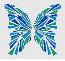 Butterfly Geometry Blues Needlepoint Canvas - $64.35
