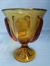 Indiana Teardrop Amber Depression Glass Goblet Dessert Dish Compote Heav... - $24.95
