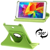For Galaxy Tab 4 7.0 Green Litchi Leather Case with 2-angle Viewing Holder  - $9.90