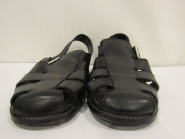 Men's Cole Haan Black Leather Macao Fisherman Sandal Size 10 ½M US - $37.04