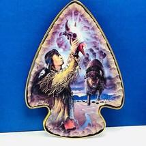 Franklin Mint collectors plate Frizzel native arrowhead shape Calling Bu... - $26.85