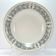 "Mikasa Riviera 205 Round Vegetable Serving Bowl Ivory Black Scrolls 9-5/8"" - $30.40"