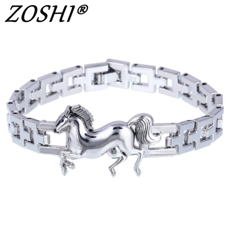Primary image for Fashion Punk Horse Stainless Steel Charm bracelet for Women DIY Bracelets & Bang