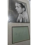 Humphtey Bogart signed album page.Double matted w/photo, and framed. Sup... - $875.00