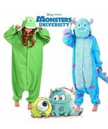 HalloweeAdult/Kid Monsters Mike Wazowski&sulley Costume Pajamas-Ones Sle... - £13.70 GBP