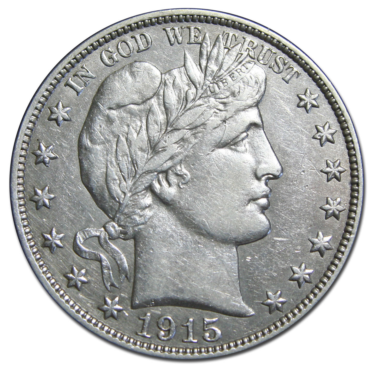 1915S Liberty Barber Head Half Dollar 50¢ Silver Coin Lot MZ 3019