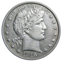 1915S Liberty Barber Head Half Dollar 50¢ Silver Coin Lot MZ 3019