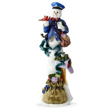 Lenox 2015 Pencil Snowman Figurine Mailman Annual Winter Special Deliver... - $109.99