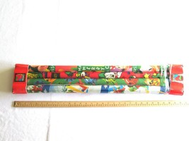 Vtg 1990s? Disney Mickey Mouse Minnie Pluto CLEO Wrapping Paper 200 sqft... - $44.99