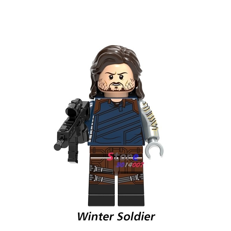 1pcs Winter Soldier Bucky Barnes Marvel Avengers Infinity War Minifigures Block