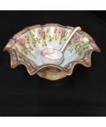 Antique 1910s Morimura Bros Ruffled Bowl Ladle Mismatched Set Noritake N... - $84.14