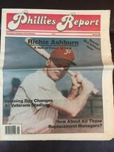 Philadelphia Phillies Report 1995 Newspaper Rich Ashburn Newspaper Hall ... - $14.99