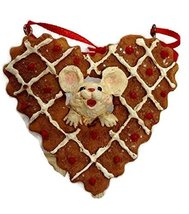 Merry Chrismouse in Cookie Ornament (Heart) - $15.00