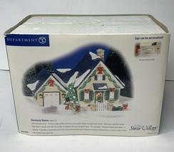 Department 56 Snow Village Harmony House Christmas Decor Cute Holiday Home - $40.00