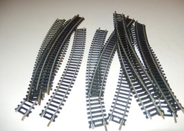 HO TRACK-  12 CURVED TRACKS- STEEL/NS- SOME ARE TYCO - GOOD - W8A - $3.13