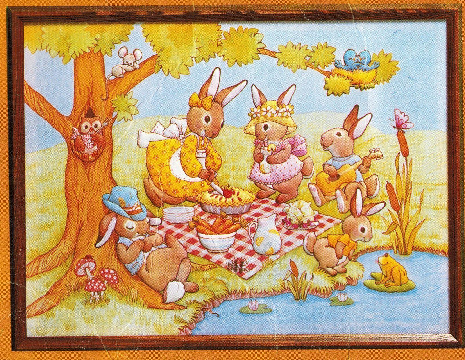 1983 Creative Circle Easter Bunnies Picnic and 25 similar items