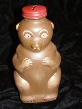 Snow Crest Beverages Salem Ma Bear Glass Container - $26.99