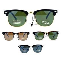 SA106 Kids Size Boys Half Horn Rim Hipster Retro Sunglasses - $9.95