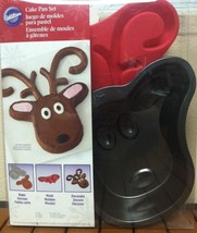 Wilton Reindeer Cake Pan Set with Candy Mold 2105-5787 2 Piece Bakeware ... - $336,73 MXN