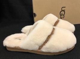 UGG Australia DALLA Natural FURRY SLIP ON SHEEPSKIN SLIDES SLIPPERS 1017549 - $79.99