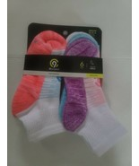 Champion C9 Performance Youth Girls M 10.5-4 Ankle Socks 6 Pair New - $12.86