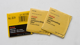 3 Vintage Kodak Color Compensating Wratten Filters - NEW in original packaging - $10.00
