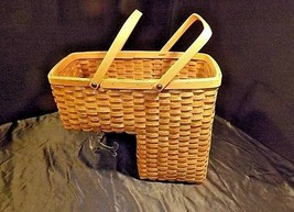 Double Handled Swing Basket Handmade AA18-1294 Vintage