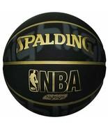 SPALDING basketball GOLD HIGHLIGHT No. 7 ball black from Japan - $80.85