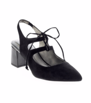 New Bandolino Black Suede Leather Mary Jane Pumps Size 8 Size - $29.99