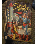 Space Happy Coloring Book LARGE Genuine 1953 Merrill Company 151115Color... - $69.00