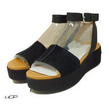 UGG Women's Black Chapala Platform Wedge Sandal, Size 8 - $63.34