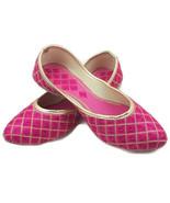 F154 Indian Juti Pink flat Khussa Handmade Shoe/Juti/Mojari WOMENS Usa S... - $19.80