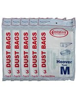 15 Hoover Dimension Canister Type M Vacuum Dust Bags, Fits all Dimension... - $31.39