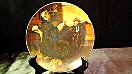 """1977 """"The Doctor and the Doll"""" Norman Rockwell Plate with Box ( Royalwood China) image 8"""