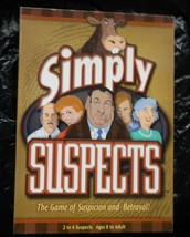 Simply Suspects Board Game - by Spy Alley-Complete - $18.00